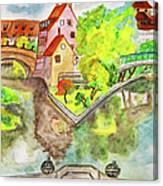Nuremberg, Hand Drawn Picture Canvas Print
