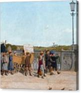 Nursery School Children On The Kirchenfeld Bridge Canvas Print