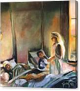 Nurses Are Heroes To Heroes Canvas Print