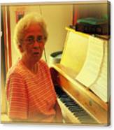 Nursing Home Piano Player Canvas Print