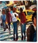 Ny Cross Walk Canvas Print