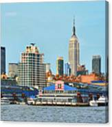 Ny Skyline And Chelsea Piers Canvas Print