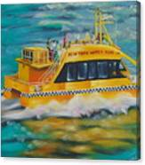 Ny Water Taxi Canvas Print