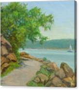 Nyack Trail Along The Hudson Canvas Print
