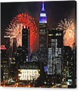 Nyc 4th Of July Fireworks Canvas Print