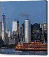 Nyc And Staten Island Ferry Canvas Print