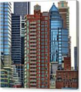 Nyc Architecture Buildings Tall  Canvas Print