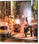 Nyc At Night Canvas Print