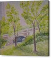 Nyc Central Park. Spring Canvas Print
