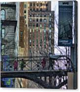 Nyc Crossings Daily Life Children  Canvas Print