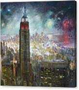 Nyc. Empire State Building Canvas Print