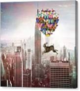 Nyc Hare Day Canvas Print