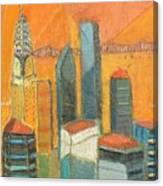 Nyc In Orange Canvas Print
