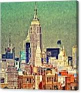 Nyc Scaped Canvas Print