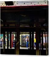 Nyc Subway Platform 283 Canvas Print