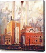 Nyc- View From East River  Canvas Print