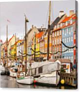Nyhavn Area Copenhagen Canvas Print