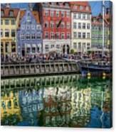 Nyhavn Harbor Area, Copenhagen Canvas Print