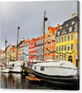 Nyhavn Harbour In Copenhagen Canvas Print