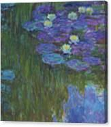 Nympheas En Fleur, 1914 To 1917  Canvas Print