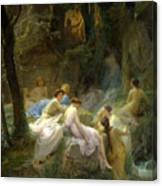 Nymphs Listening To The Songs Of Orpheus Canvas Print