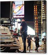 Nypd Times Square Canvas Print
