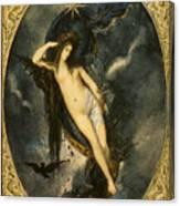 Nyx Night Goddess Canvas Print