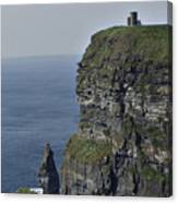 O Brien's Tower At The Cliffs Of Moher Ireland Canvas Print