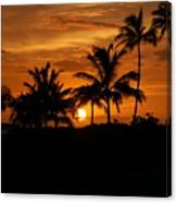 Oahu At Sunset Canvas Print