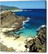 Oahu, Beach Goers Canvas Print