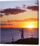 Oahu Fisherman Canvas Print