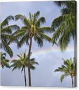 Oahu, Rainbow Canvas Print