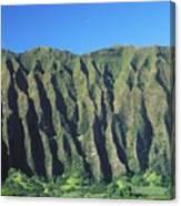 Oahu Rugged And Lush Canvas Print