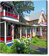 Oak Bluffs Gingerbread Cottages 1 Canvas Print