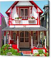 Oak Bluffs Gingerbread Cottages 2 Canvas Print