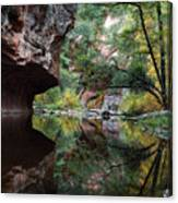 Oak Creek Canyon Reflections Canvas Print