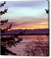 Oak Harbor Sunset 1016 Canvas Print