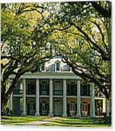 Oak Trees In Front Of A Mansion, Oak Canvas Print
