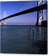 Oakland Bay Bridge 1985 Canvas Print