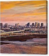 Oakland Sunset Canvas Print