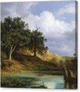 Oaks Beside The Water 1832  Canvas Print
