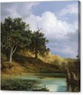 Oaks Beside The Water 1832 By Christian E. B. Morgenstern Canvas Print