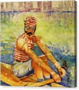 Oarsman Canvas Print