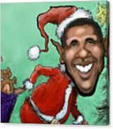 Obama Christmas Canvas Print