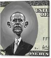 Obama Dollar Canvas Print