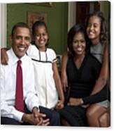 Obama Family Official Portrait By Annie Canvas Print