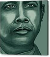 Obama In Bronze Canvas Print