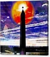 Obelish Eclipse Canvas Print