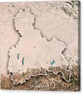 Oberbayern Regierungsbezirk Bayern 3d Render Topographic Map Neu Canvas Print