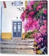 Obidos And Bougainvilla Canvas Print